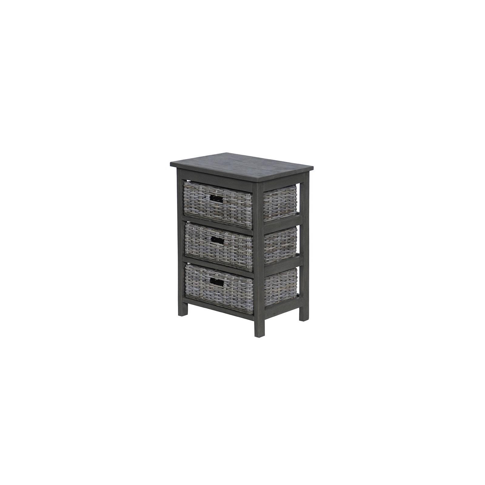 Commode Grise Bokéo Manguier - meuble bois exotique