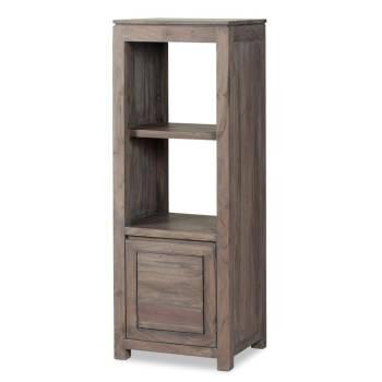 Colonne étagère Tara Grisée Acacia - meuble design haut de gamme