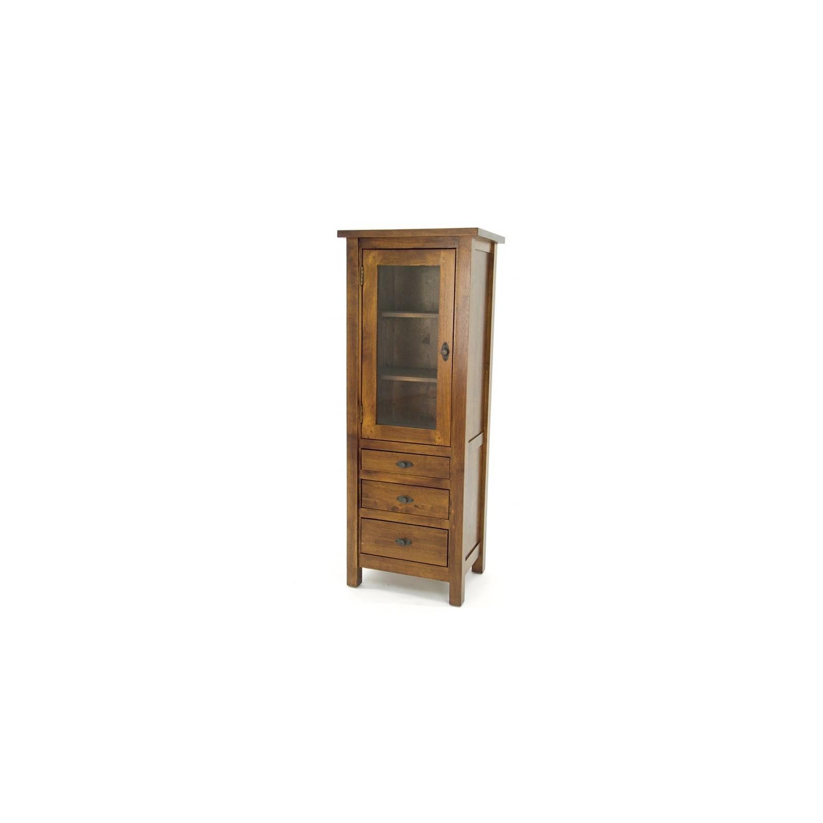Colonne Vitrée Belle Epoque Hévéa - meuble style classique