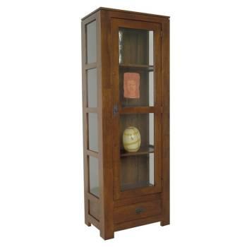 Vitrine haut de gamme mobilier tendance en bois massif for Meuble vitrine montreal