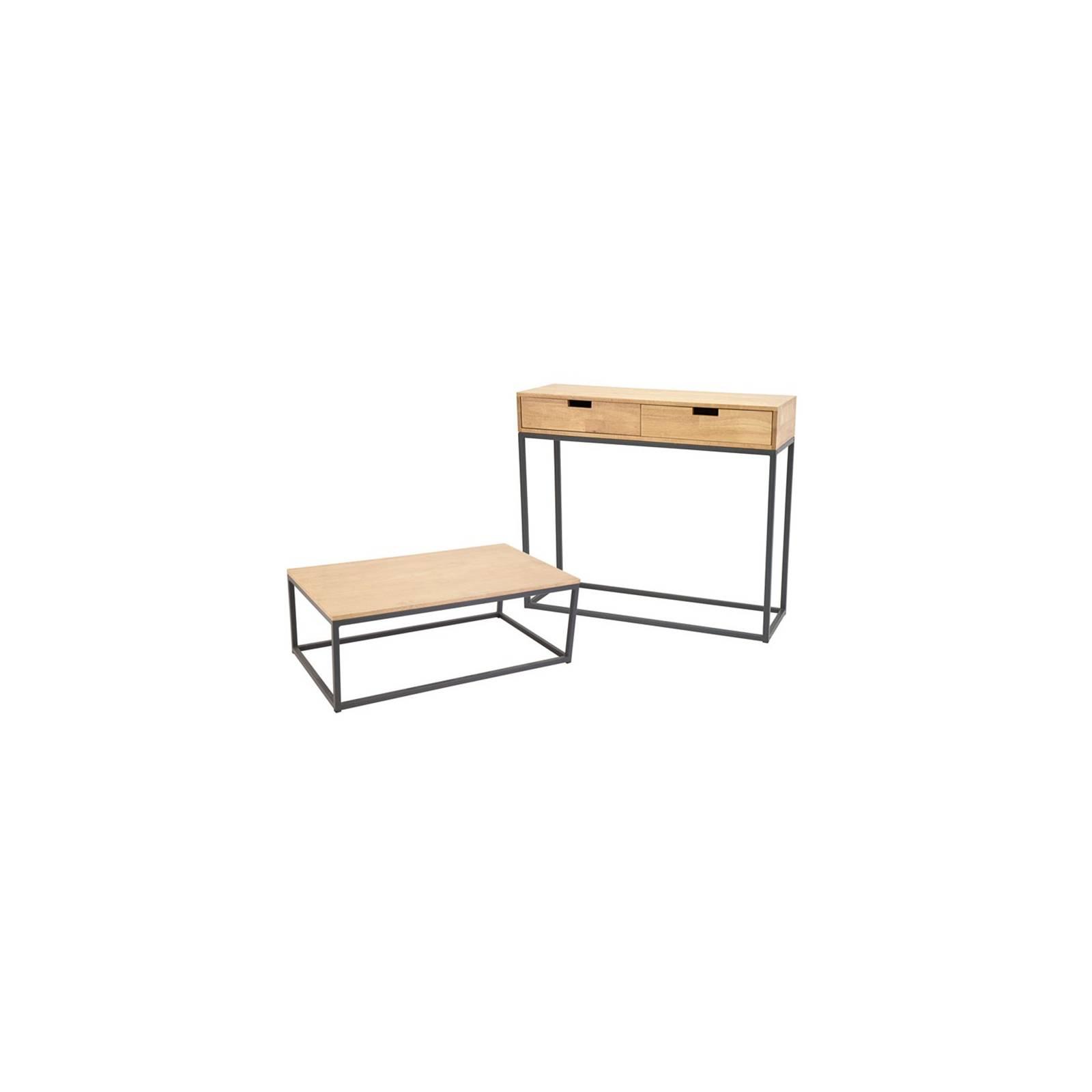 Console / Table Basse Berlin Hévéa - meuble bois exotique