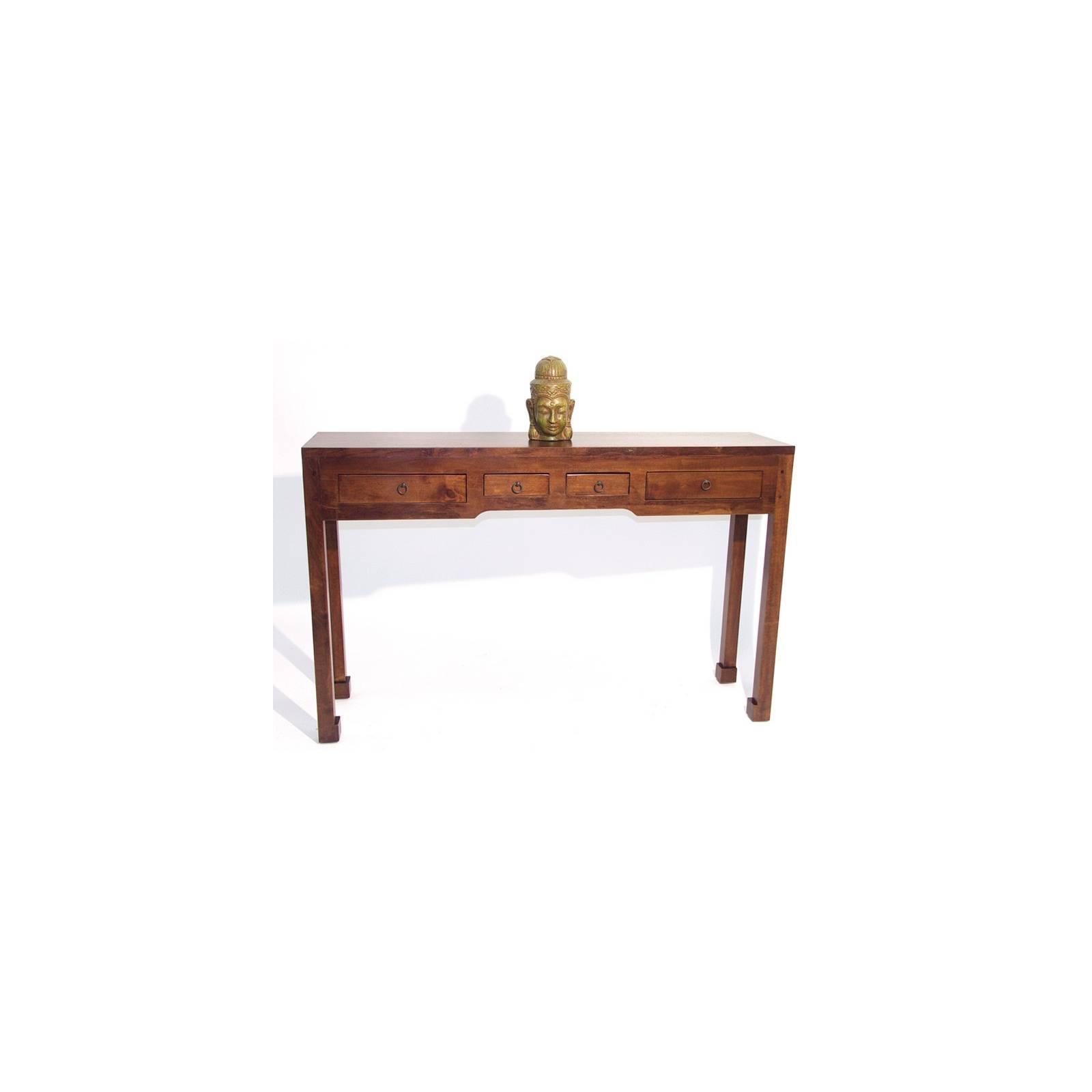 Console Chine Hévéa - meuble bois exotique