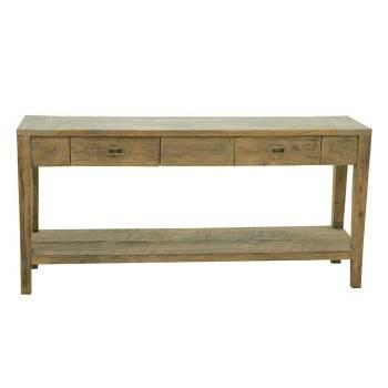 Console Felix Teck Recyclé - meuble bois massif