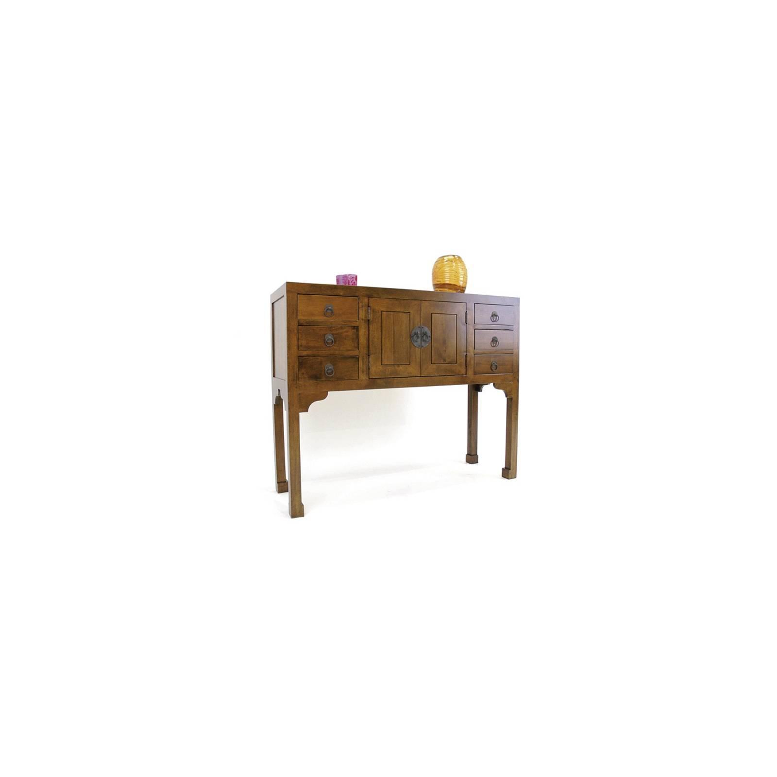 Console Orientale Chine Hévéa - meuble bois exotique
