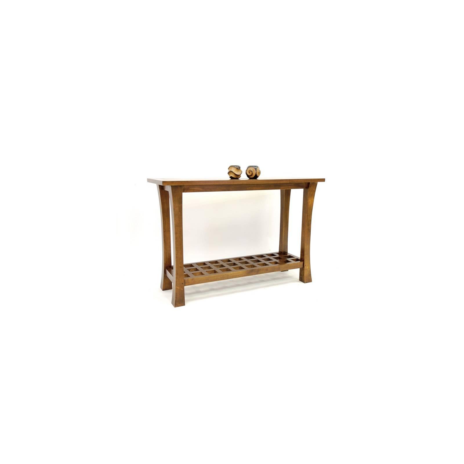 Console Quadrille Chine Hévéa - meuble bois exotique
