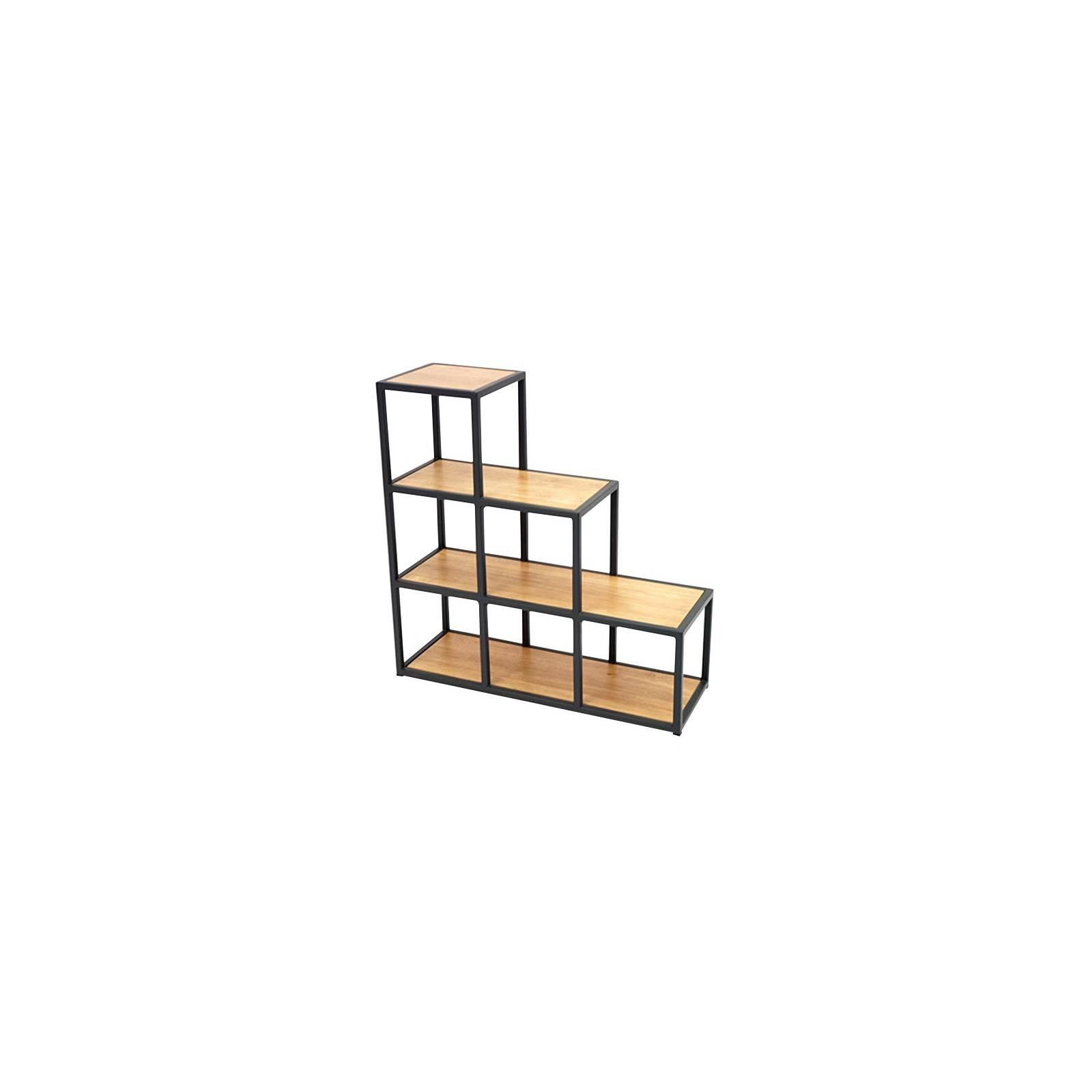Étagère escalier Berlin Hévéa - meuble bois exotique