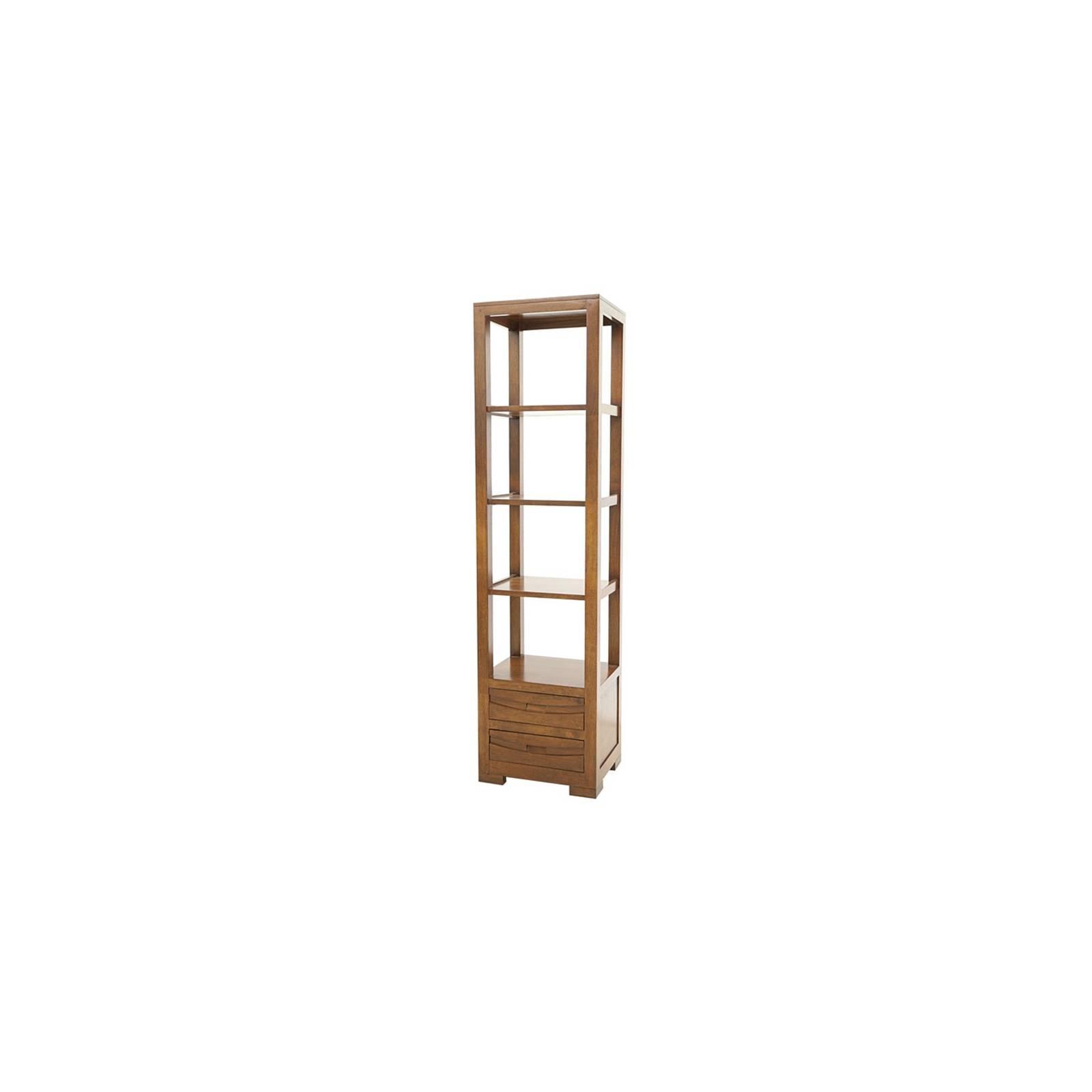 colonne tag re en bois exotique meuble de bureau horizon. Black Bedroom Furniture Sets. Home Design Ideas