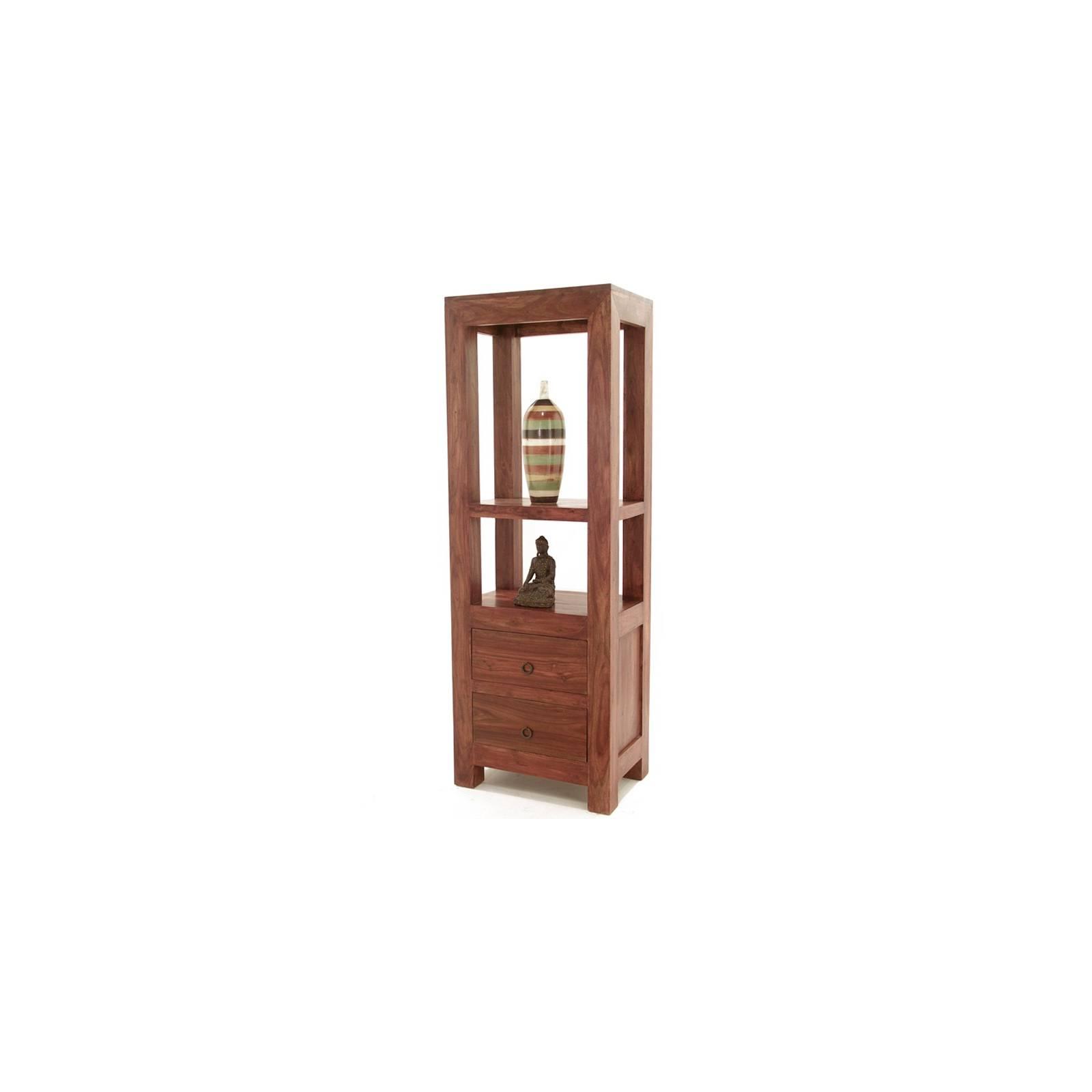Colonne Etagère Tiroirs Palissandre Zen - meubles bois exotique