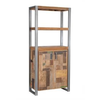 Étagère Porte Teck Bato - meuble bois massif