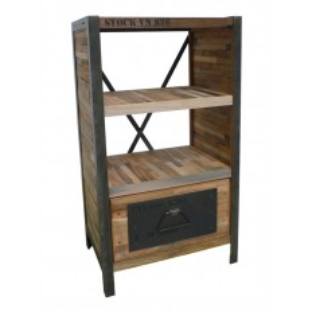 Etagère Tiroir Mona Teck Recyclé - meuble teck massif