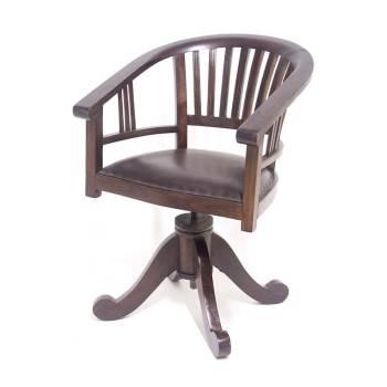 Fauteuil Bureau Tournant Teck Cuir - fauteuil de bureau