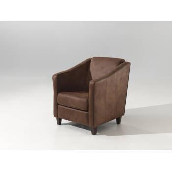 Fauteuil Club Microfibre - fauteuil rétro