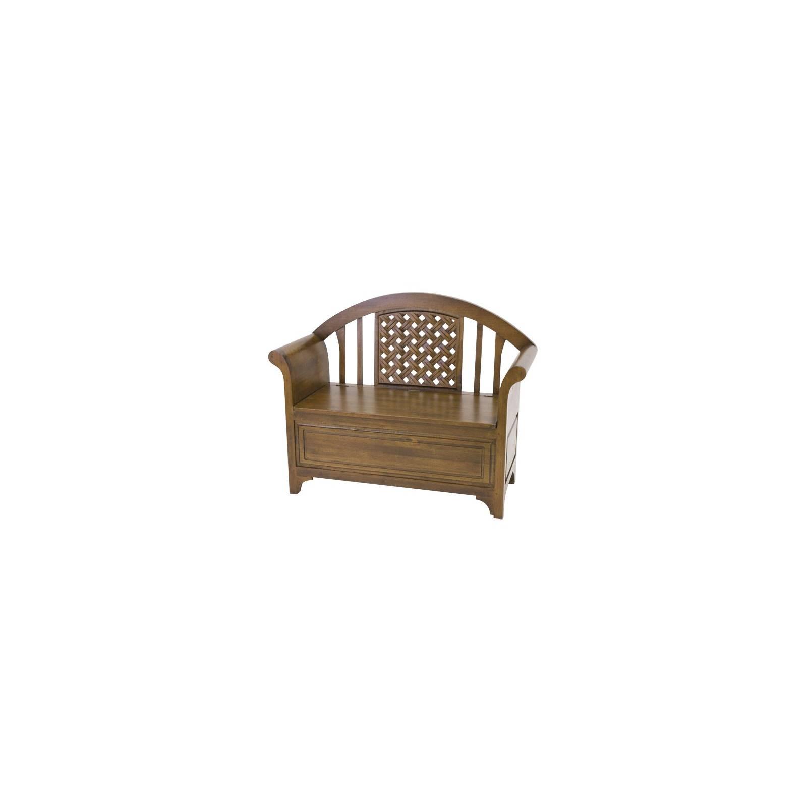 Fauteuil Coffre Panama Hévéa - meuble bois massif