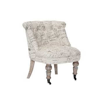 Fauteuil Crapaud Vintage Ecru Tissu - meuble style rétro