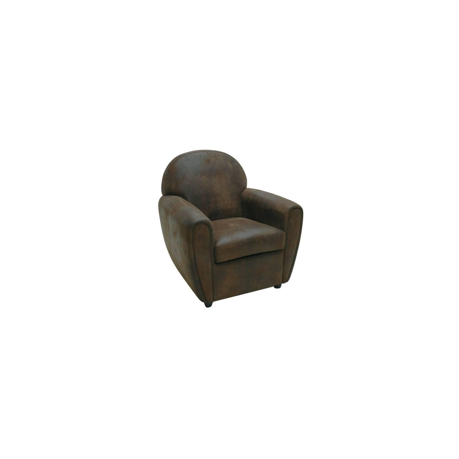 Fauteuil Lounge Alabama Microfibre - fauteuil rétro