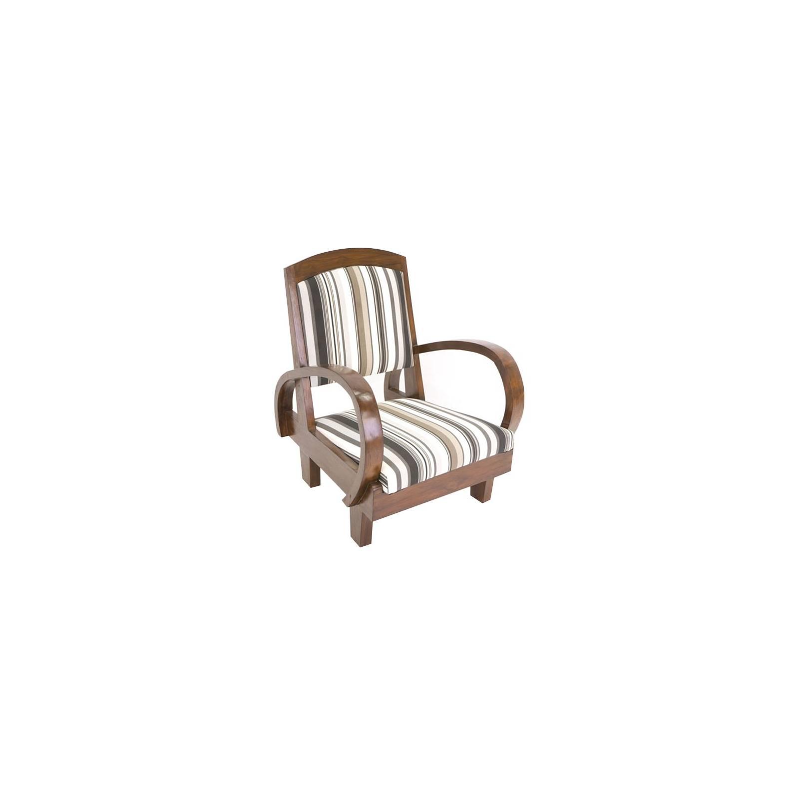 fauteuil exotique planteur meuble en teck massif et tissu. Black Bedroom Furniture Sets. Home Design Ideas