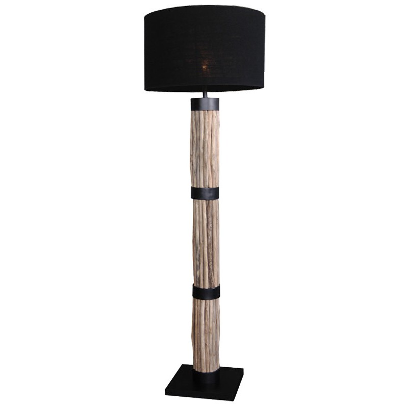 lampadaire en bois flott damas luminaire haut de gamme. Black Bedroom Furniture Sets. Home Design Ideas