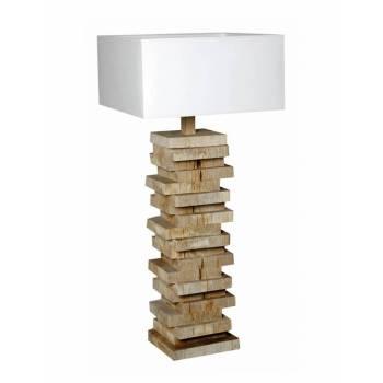 Lampe Atalante Bois Flotté - déco style ethnique