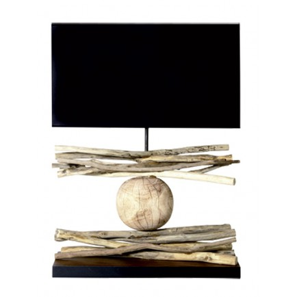 lampe en bois flott mikado accessoires pour le bureau. Black Bedroom Furniture Sets. Home Design Ideas