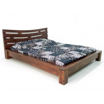 Lit 140 Soleil Levant Palissandre - achat meubles bois exotique