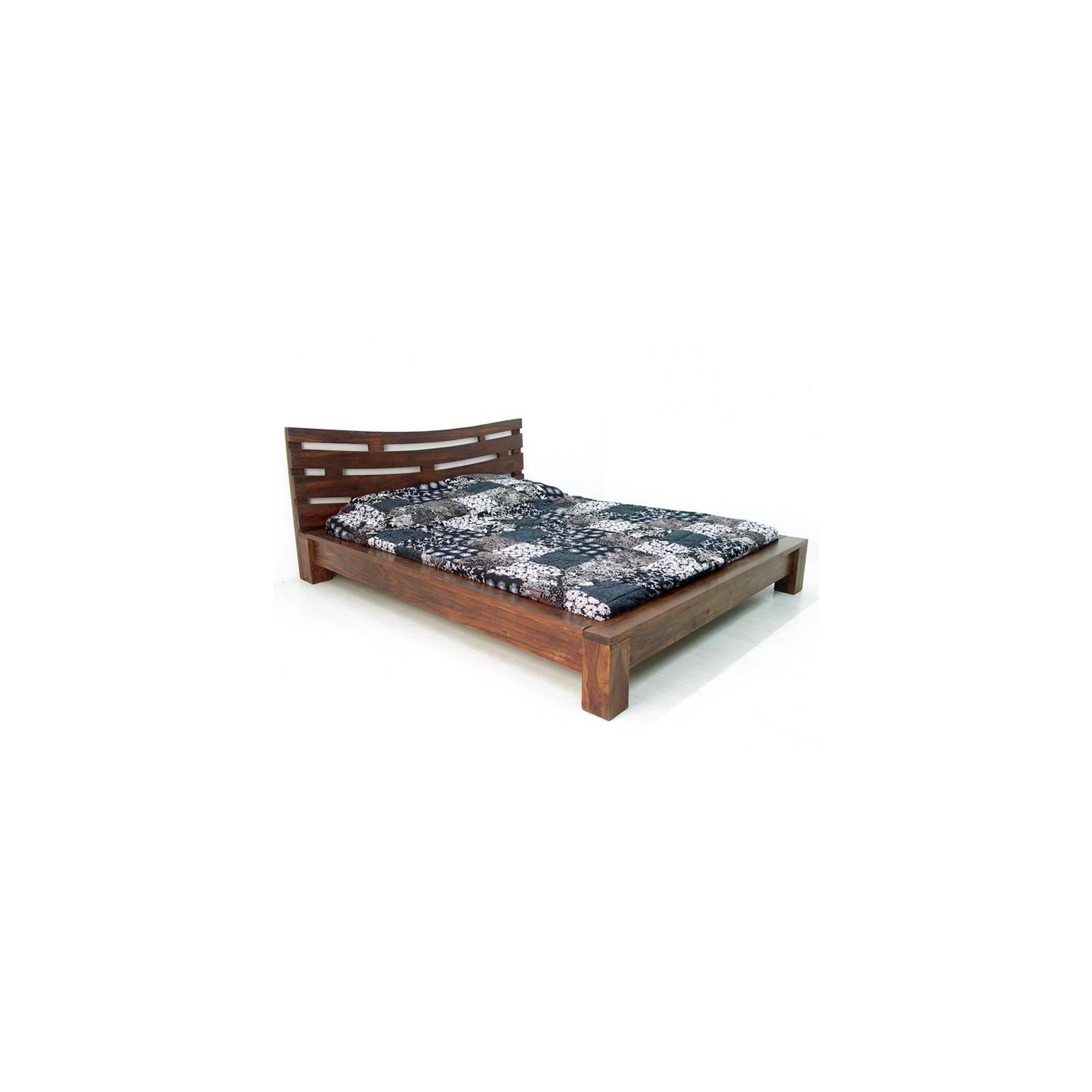 Lit 160 Soleil Levant Palissandre - achat meubles bois exotique