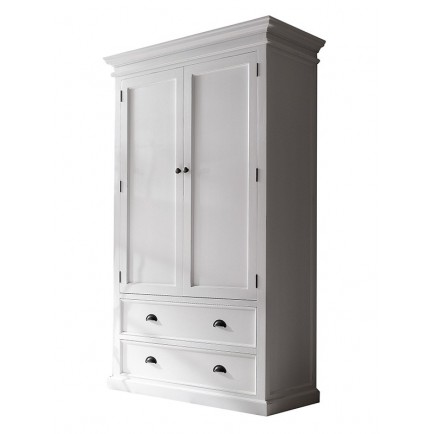 armoire classique blanche torini penderie en bois massif. Black Bedroom Furniture Sets. Home Design Ideas