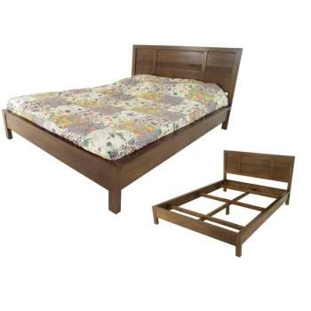 Lit Strié Siguiri 140 Hévéa - meuble bois massif