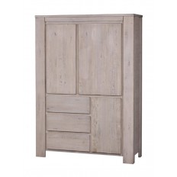 Meuble Bar Milena Grigia Chêne - meuble style design