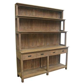 Buffet Vaisselier Felix Teck Recyclé - meuble bois massif