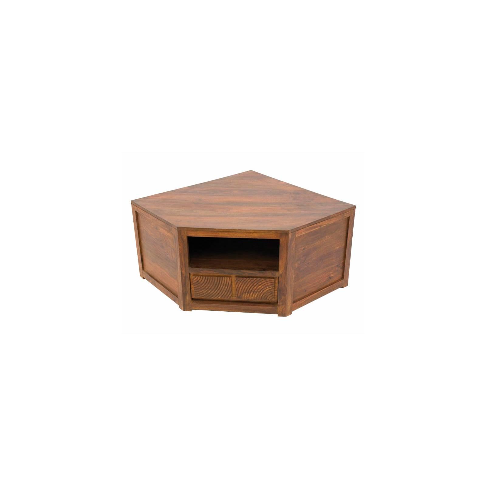 Meuble Tv Angle Sikasso Palissandre - meubles de salon style ethnique
