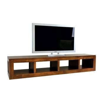 Meuble Tv Bas Omega Hévéa - meuble style design