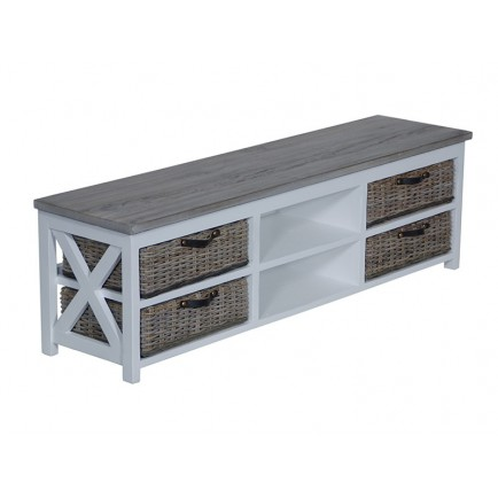 Meuble Tv Bokéo Manguier - meuble bois exotique