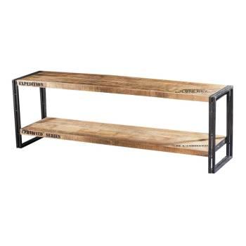 Meuble Tv Factory Acacia - meuble style industriel
