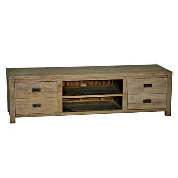 Meuble Tv Felix Teck Recyclé - meuble bois massif