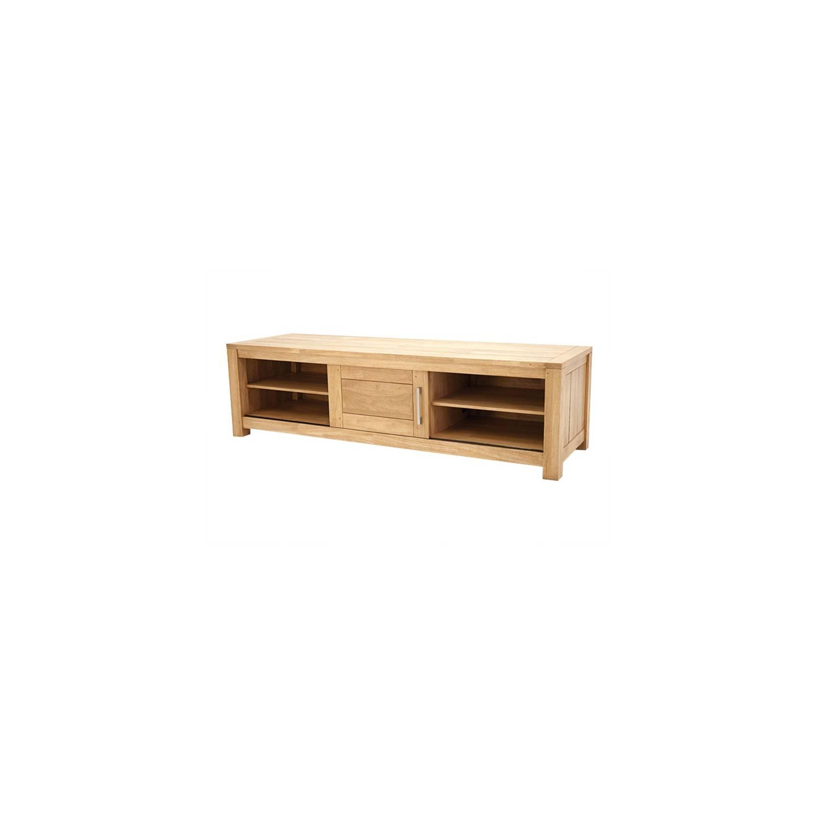 Meuble Tv Grand Modèle Broadway Hévéa - meuble bois massif