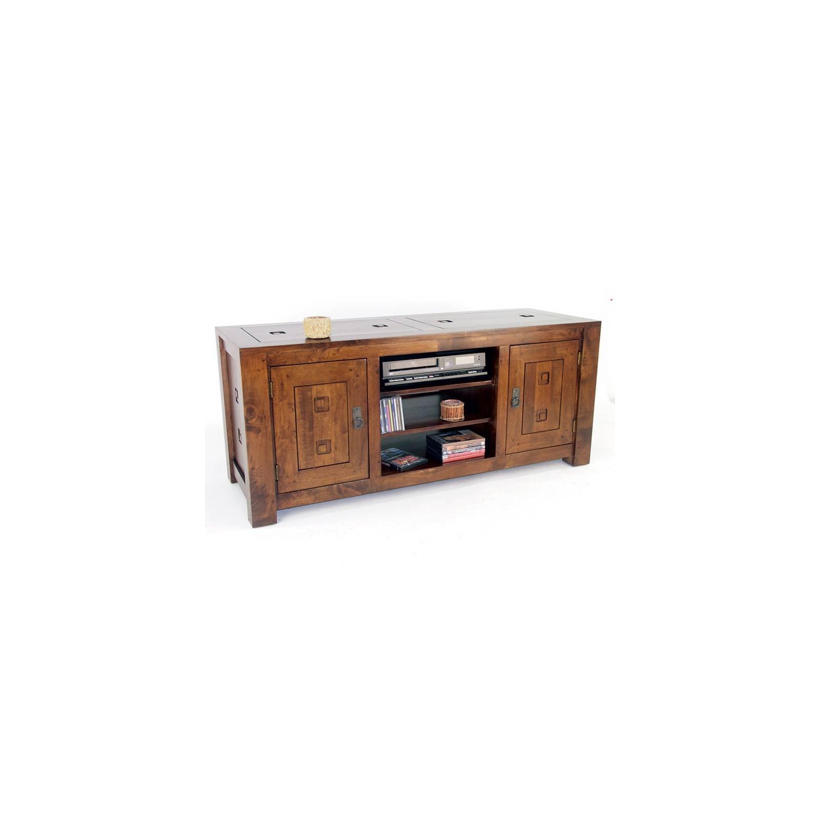 Meuble Tv Hifi Tanoa Hévéa - mobilier bois massif