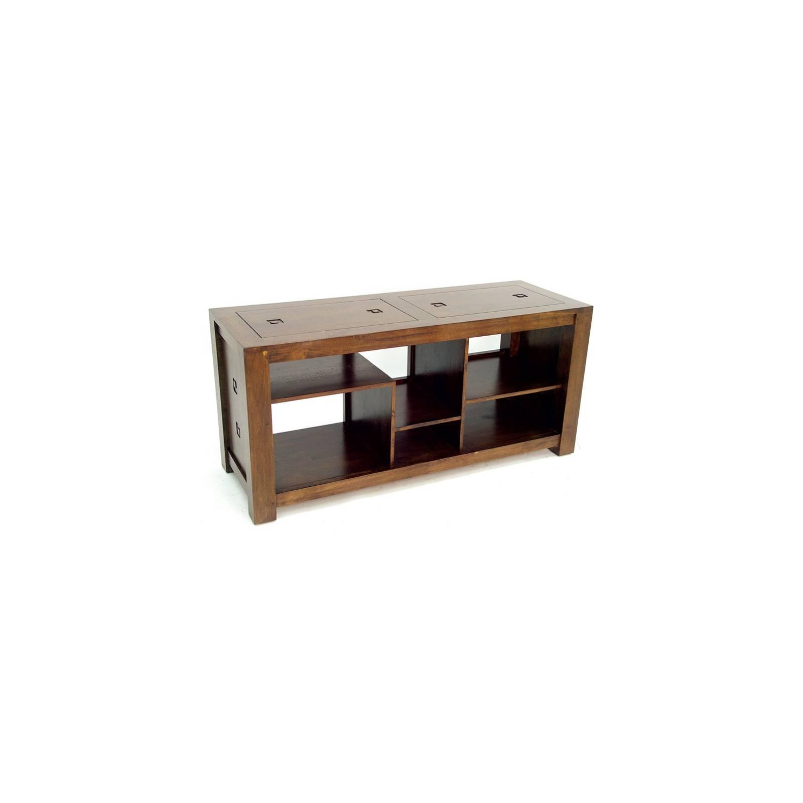 Meuble Tv Asymetrique Tanoa Hévéa - mobilier bois massif