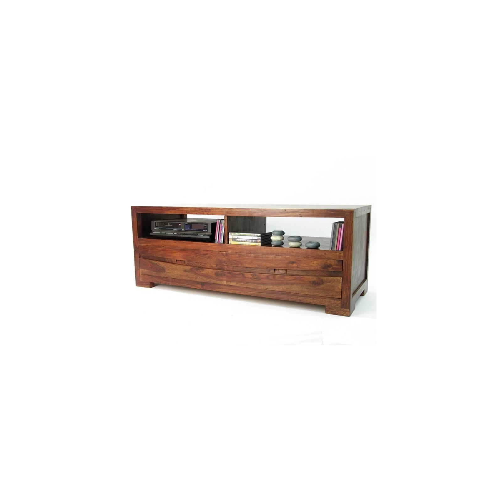 Meuble Tv Soleil Levant Palissandre - achat meubles bois exotique