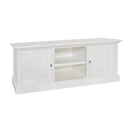 Meuble Tv Authentique Victoria Pin Massif - meuble shabby chic