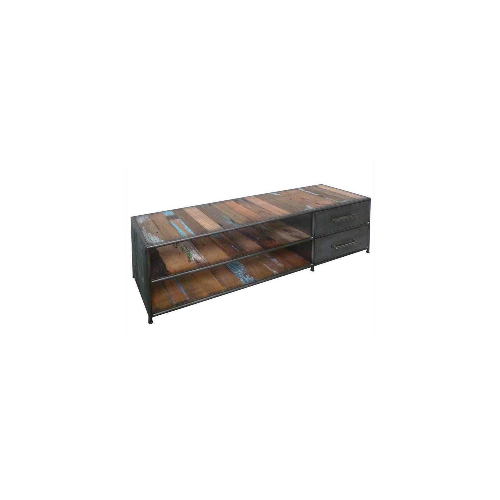 Meuble Tv Luxor Teck - meuble bois massif