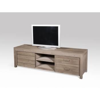 Meuble Tv GM Cube Teck - meuble bois exotique