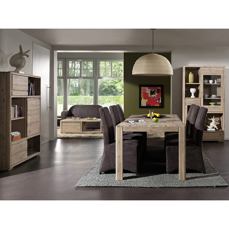 meuble tv en bois exotique jo lle salon ethnique design. Black Bedroom Furniture Sets. Home Design Ideas