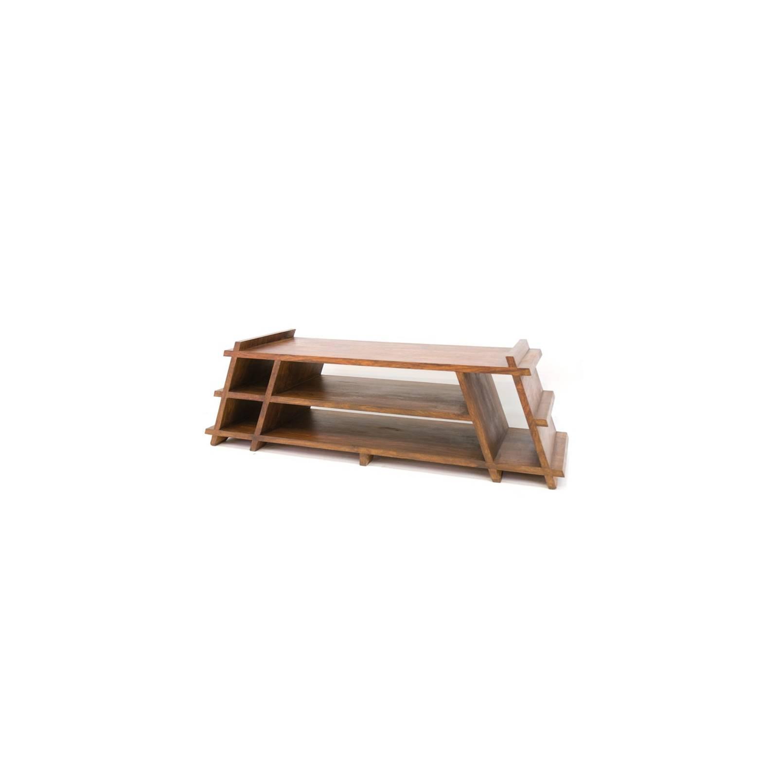 Meuble Tv Pyramide Lhassa Palissandre - meuble tendance coloniale