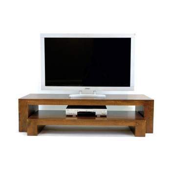 Meuble Tv S/2 Omega Hévéa - meuble style design