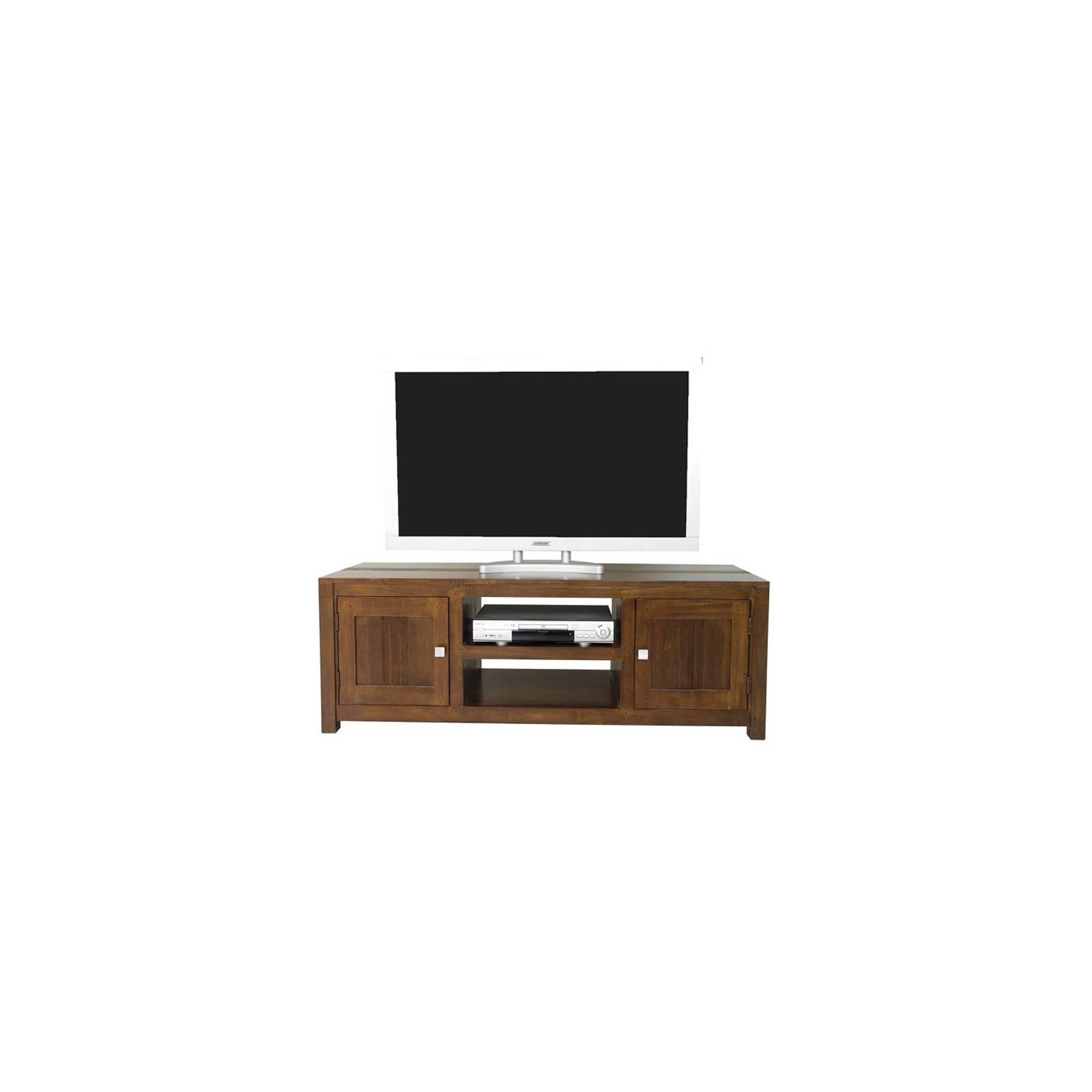 Meuble Tv Strié Siguiri Hévéa - meuble colonial
