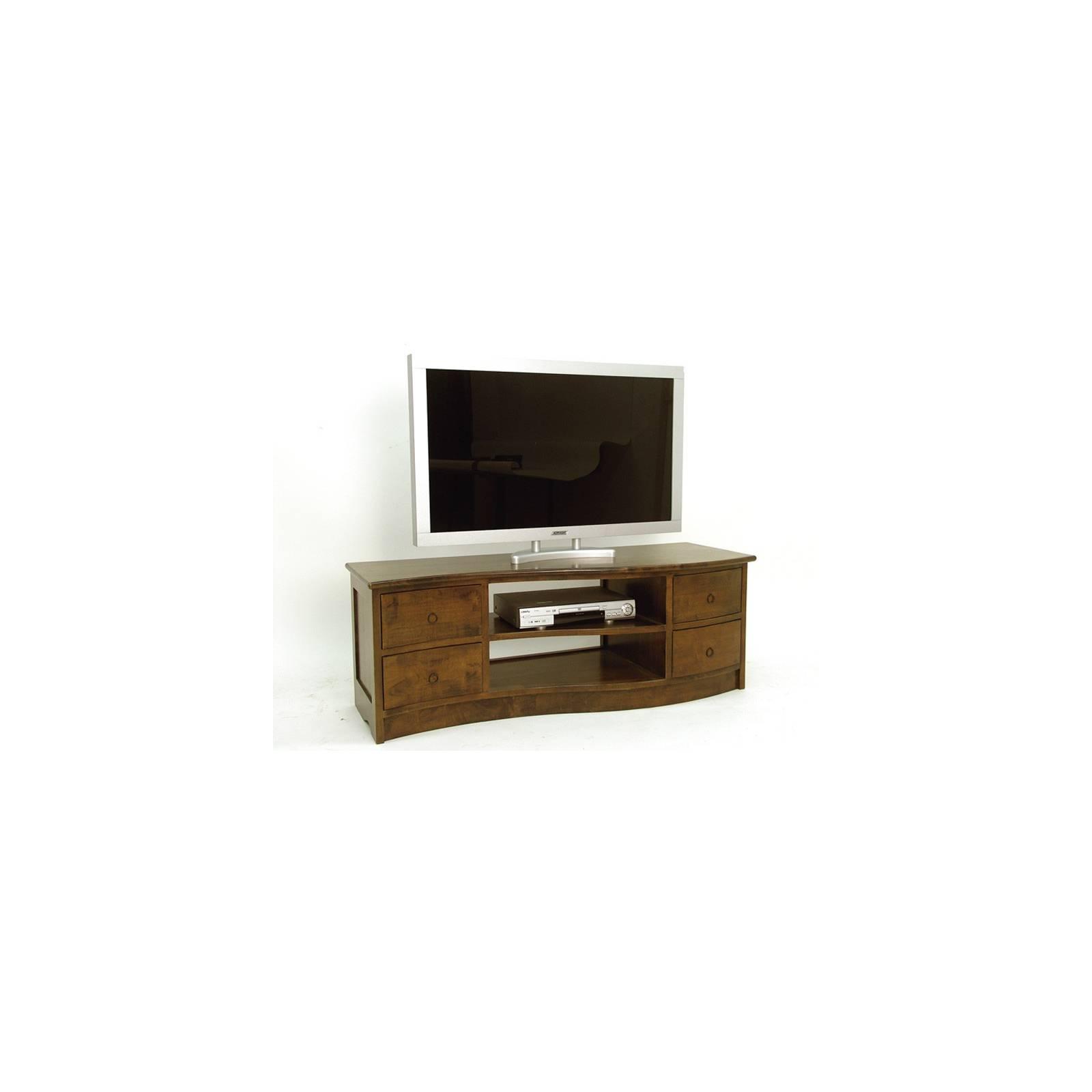 Meuble Tv Vague Oceania Hévéa - meuble style colonial