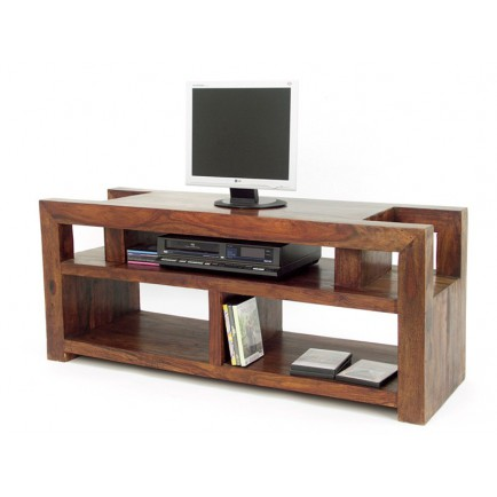 Meuble Tv Design Zen Palissandre - meubles bois exotique
