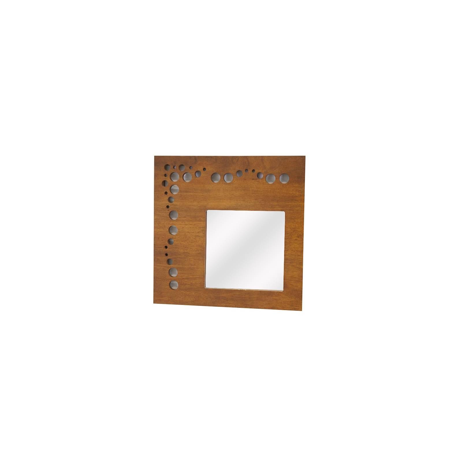 Miroir Carré Océania Hévéa - meuble style colonial