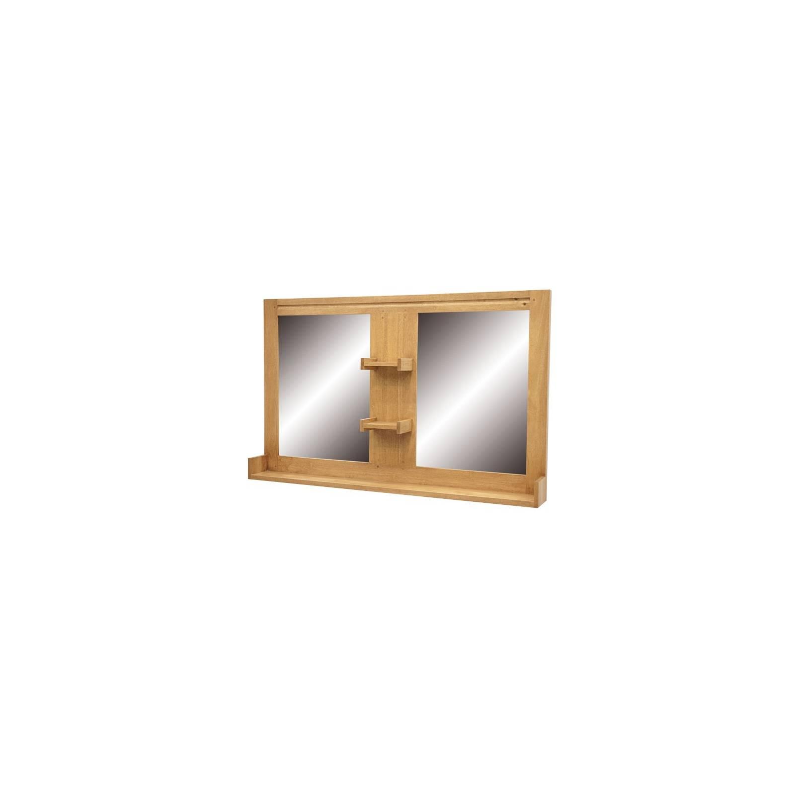 Miroir Double Salle De Bain Fjord Hévéa - meuble déco