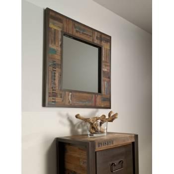 Miroir Isis Teck Recyclé - meuble bois massif
